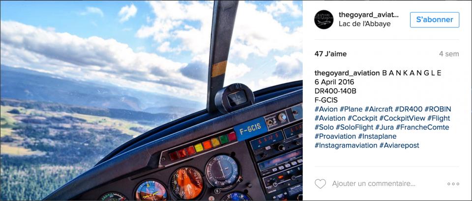Instagram vos photos nous font rêver Robin Aircraft DR400 DR401