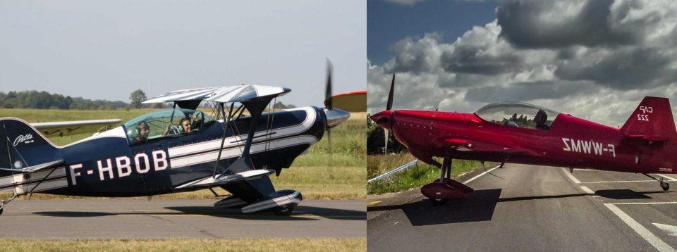 Bertrand Boillot et Eric Vazeille Skyloop Pitts S2-A et CAP222 RobinAircraft