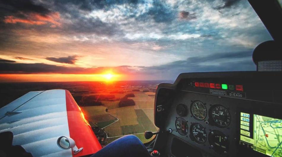 INSTAGRAM: mariuspalmen - sunset DR400 Robin Aircraft